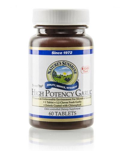 Ajo de Alta potencial - Colesterol - el salvador - natures sunshine